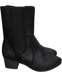 Chanel - Pony-style Calfskin Ankle Boots - Lyst