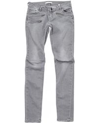 Maje - Pre-owned Grey Cotton - Elasthane Jeans - Lyst