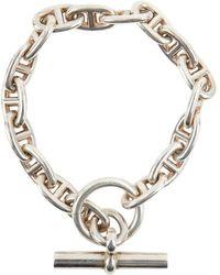 Hermès - Chaîne D'ancre Silver Bracelet - Lyst