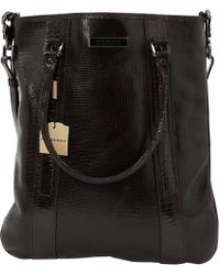 Burberry - Pre-owned Black Leather Bags - Lyst