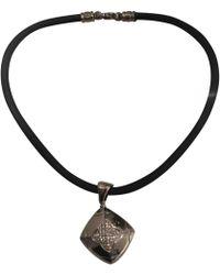 BVLGARI - Pyramide White Gold Necklace - Lyst