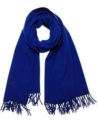 f370062cd9e Dior Cd Logo Scarf in Blue - Lyst
