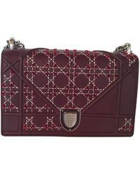 Dior - Ama Burgundy Leather Handbag - Lyst