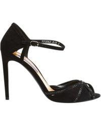 Polo Ralph Lauren - Black Suede Sandals - Lyst