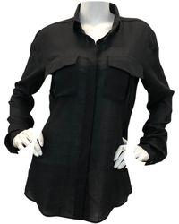 Anthony Vaccarello Camisa en poliéster negro