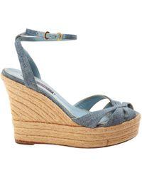 Ralph Lauren Collection - Cloth Sandals - Lyst