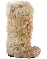 Ralph Lauren Collection - Beige Fur Boots - Lyst