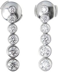 Tiffany & Co. - Vintage White Platinum Earrings - Lyst