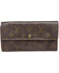 Louis Vuitton - Sarah Brown Cloth Wallets - Lyst