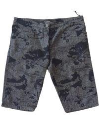 Chanel - Grey Cotton Shorts - Lyst
