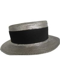 Sonia Rykiel - Pre-owned Silver Polyester Hats - Lyst
