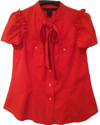 Marc By Marc Jacobs - Red Cotton Top - Lyst