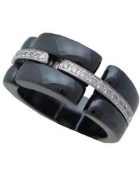 Chanel - Pre-owned Ultra Black White Gold Rings - Lyst
