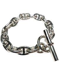Hermès - Pre-owned Chaîne D'ancre Silver Bracelet - Lyst