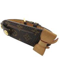 Louis Vuitton - Pre-owned Brown Plastic Bracelet - Lyst