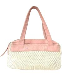 Chanel - Pre-owned Vintage Pink Synthetic Handbags - Lyst