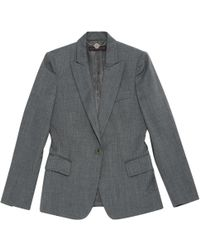 Stella McCartney - Pre-owned Grey Wool Jackets - Lyst