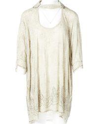AllSaints - Silk Mini-dress - Lyst