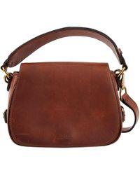 Polo Ralph Lauren - Brown Leather Handbag - Lyst