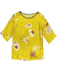 Dries Van Noten - Yellow Viscose Top - Lyst