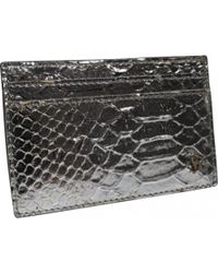 Roberto Cavalli - Silver Leather Wallets - Lyst