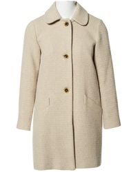 A.P.C. - Beige Wool Coat - Lyst