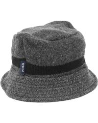 Polo Ralph Lauren - Grey Wool Hats - Lyst