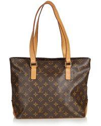 Louis Vuitton - Vintage Piano Brown Cloth Handbag - Lyst