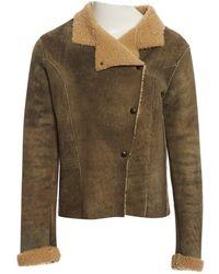 Zadig & Voltaire - Khaki Suede Jacket - Lyst