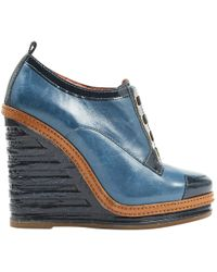 Marc By Marc Jacobs - Pre-owned Blue Leather High Heel - Lyst