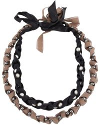 Chanel - Multicolour Cloth Necklace - Lyst