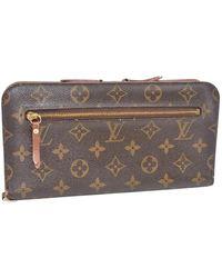 Louis Vuitton Cartera en lona marrón