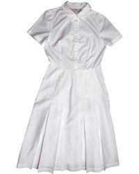 Tory Burch - White Cotton Dress - Lyst