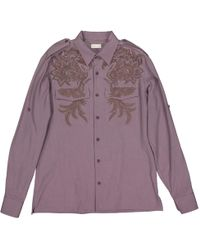 Dries Van Noten - Purple Cotton Shirts - Lyst
