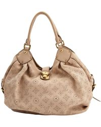 Louis Vuitton - Pre-owned Beige Leather Handbags - Lyst