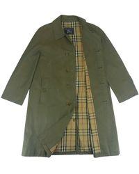 Burberry Mantel en Coton Vert
