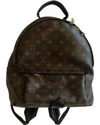 Louis Vuitton - Palm Springs Brown Cloth Backpacks - Lyst