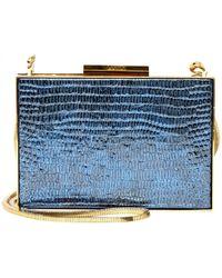 Lanvin - Blue Leather Clutch Bag - Lyst