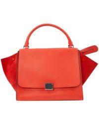 Céline - Pre-owned Trapèze Leather Handbag - Lyst