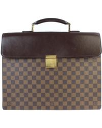 725f1b7233d8 Louis Vuitton - Pre-owned Vintage Brown Cloth Bags - Lyst