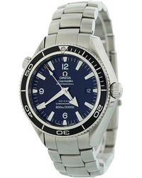 Omega - Seamaster Planet Ocean Silver Steel Watches - Lyst