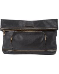 Longchamp - Pre-owned Leather Clutch Bag - Lyst
