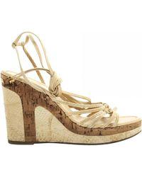 Louis Vuitton - Python Sandals - Lyst