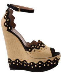 Alaïa - Cloth Sandal - Lyst