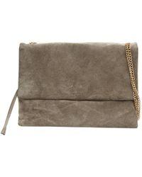 Lanvin - Sugar Grey Suede Handbag - Lyst