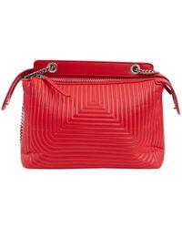8d3892df6a41 Lyst - Fendi Women s Leather Handbag Shopping Bag Purse New Dot Com ...