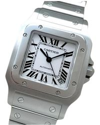 Cartier - Pre-owned Santos Galbée White Steel Watches - Lyst