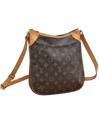 Louis Vuitton - Odéon Brown Cloth Handbag - Lyst