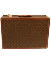 Louis Vuitton - Pre-owned Vintage Brown Cloth Travel Bags - Lyst