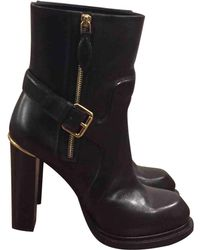 11e487c2cc8 Lyst - Louis Vuitton Leather Ankle Boots in Black